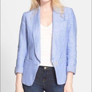 Joie Linen Gruau Summer Blue Blazer Size 10